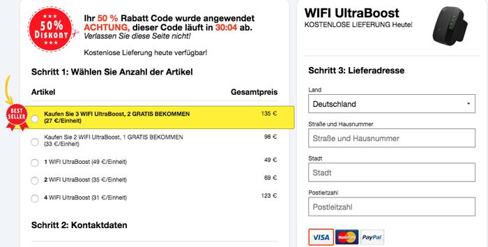 order wifiultraboost germany
